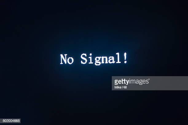 No Signal notice on blank television screen