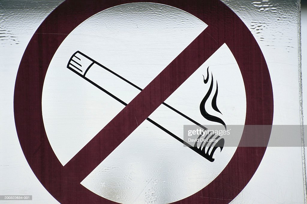 'No smoking' sign, close-up : Stock Photo