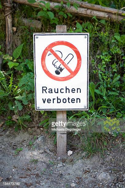 no smoking sign - captions stock photos and pictures