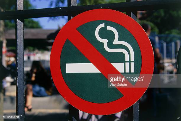 'No smoking' symbol on sign