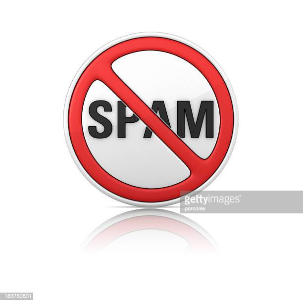 No SPAM Warning Sign