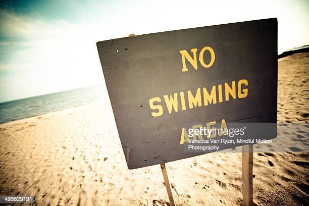 no swimming area - vanessa van ryzin stockfoto's en -beelden