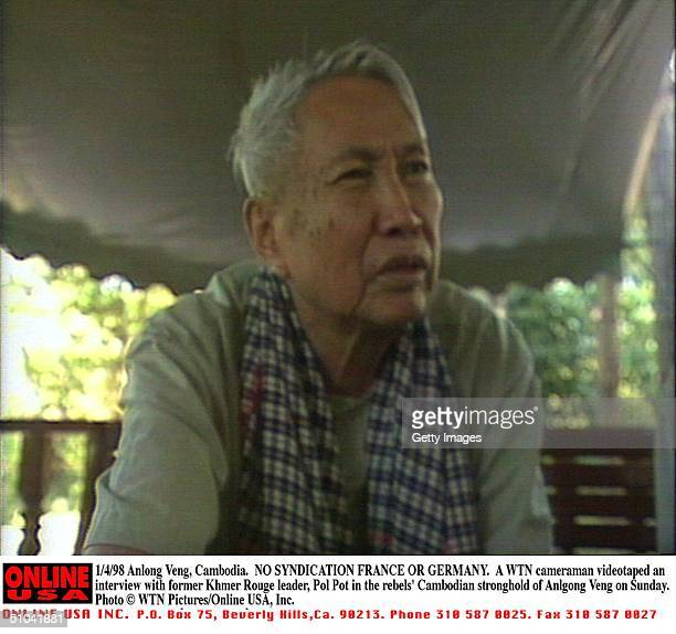 No Syndication France Or Germany 1/4/97 Anlong Veng Cambodia A Wtn Cameraman Videotaped An Interview With Former Khmer Rouge Leader Pol Pot In The...