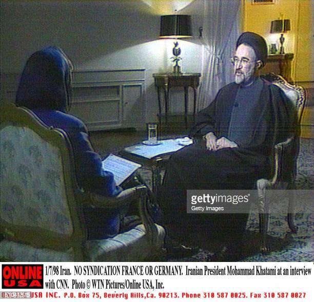No Syndication France Or Germany 1/7/98 Iran. Iranian President Mohammad Khatami'S The United States Warmed To Iranian President Mohammad Khatami'S...
