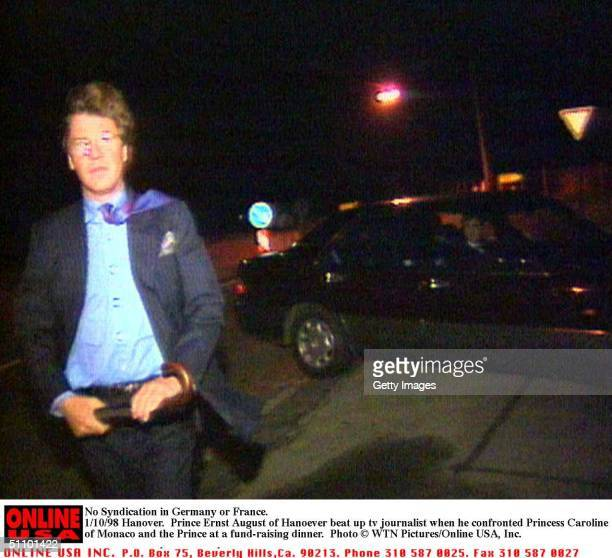No Syndication In Germany Or France 1/10/98 Hanover Prince Ernst August Attacks Camerman Carsten Thuelrman 27 Princess Caroline Of Monaco Was...
