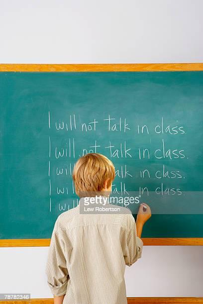 no talking in class - bestrafung stock-fotos und bilder