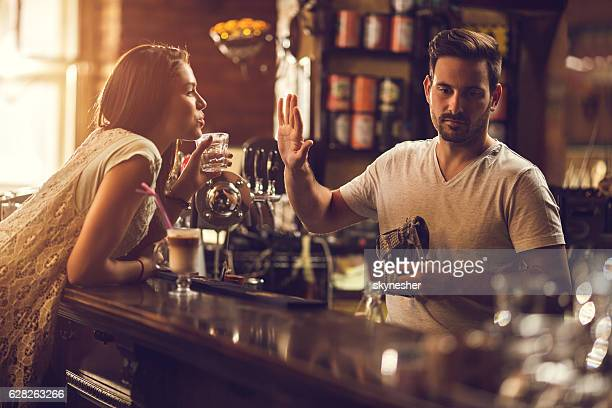 no thanks, you are to drunk! - dismissal stock photos and pictures
