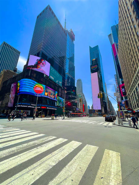 No traffic in Times Square, New York