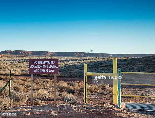 No Trespassing Federal and Tribal law.
