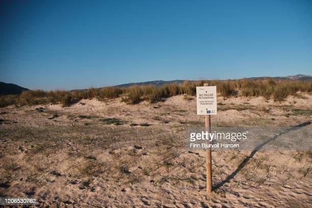 no trespassing sign at a bird protection area - finn bjurvoll stock pictures, royalty-free photos & images