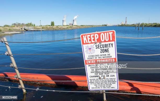 No Trespassing Sign at Crystal River Power Plant