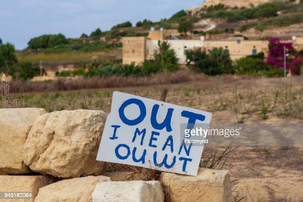 No trespassing sign, Gozo Malta