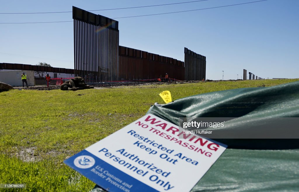 CA: Construction Continues On Secondary Border Wall On California-Mexico Border