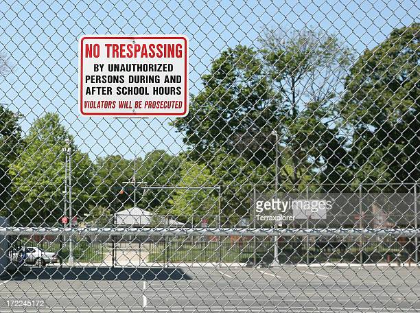 No Trespassing Sign On Fence