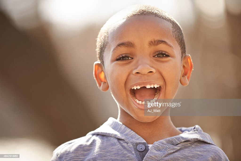 No truer feeling than the happiness of a child : Stock Photo