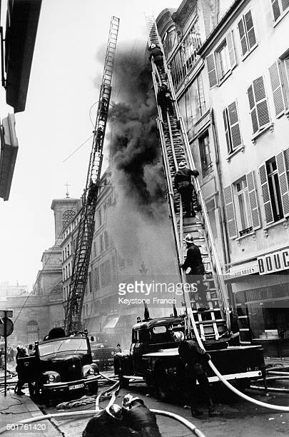 No Victim In This Important Fire Fought By 100 Firemen In A Prisunic Store In The Montmartre Neighbourhood Which Destroyed The Four Story Building On...