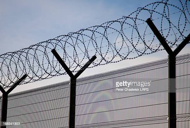 no way - barbed wire stock pictures, royalty-free photos & images