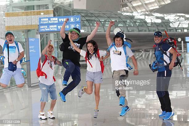 No WooJin Oh JongHyuk Ryu Dam Jo YeoJeong Kim ByeongMan and Kim SungSu depart for Belize to shoot SBS 'Law of the Jungle in Belize' at Incheon...