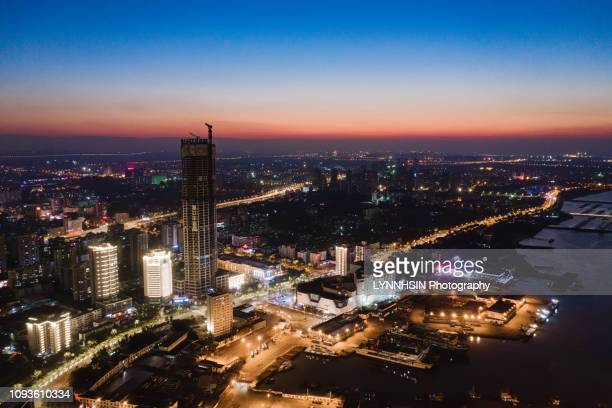 no1 tall building of haikou city,hainan ,china - lynnhsin stock pictures, royalty-free photos & images