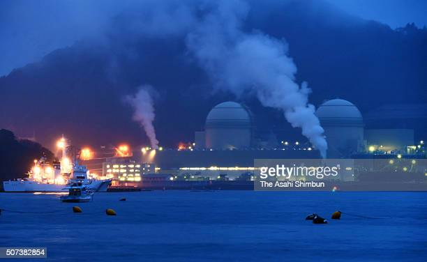 No3 reactor of the Kansai Electric Power co's Takahama Nuclear Power Plant is seen on January 29 2016 in Takahama Fukui Japan Japan brings the third...