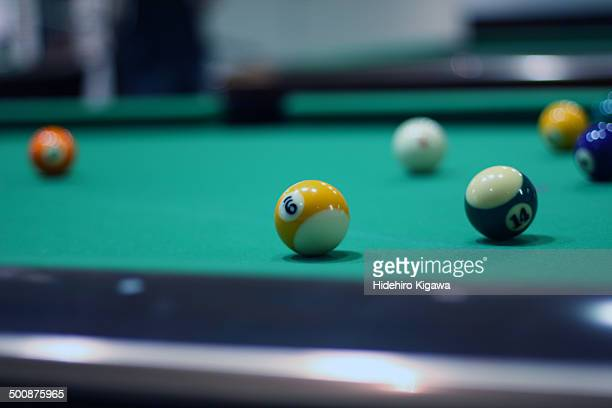 No.9 on the pool table
