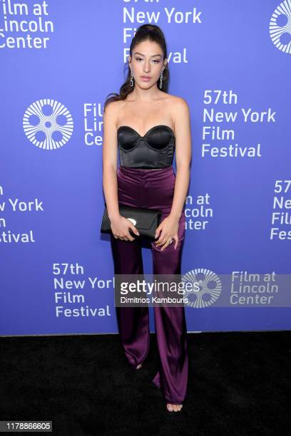 Noa Fisher attends the Uncut Gems premiere during the 57th New York Film Festival at Alice Tully Hall Lincoln Center on October 03 2019 in New York...