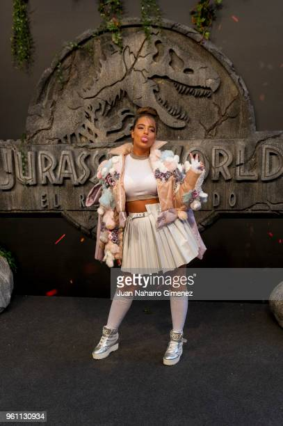 Noa Kirel attends the 'Jurassic World Fallen Kindom' premiere at Wizink Center on May 21 2018 in Madrid Spain