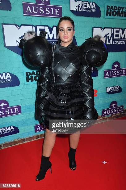 Noa Kirel attends the MTV EMAs 2017 held at The SSE Arena Wembley on November 12 2017 in London England