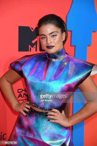 Noa Kirel attends the MTV EMAs 2019 at FIBES Conference and Exhibition Centre on November 03 2019 in Seville Spain
