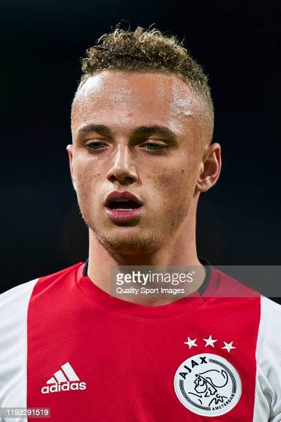 Noa Lang of AFC Ajax looks on during the UEFA Champions League group H match between AFC Ajax and Valencia CF at Amsterdam Arena on December 10 2019...