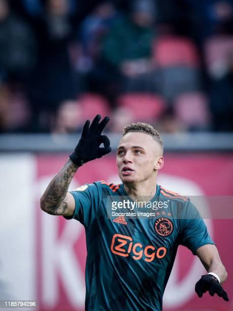 Noa Lang of Ajax during the Dutch Eredivisie match between Fc Twente v Ajax at the De Grolsch Veste on December 1 2019 in Enschede Netherlands