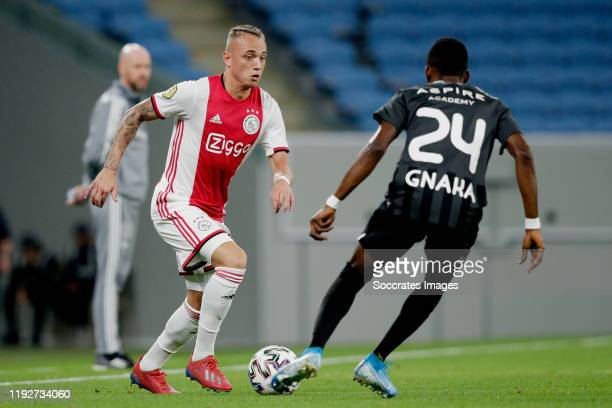 Noa Lang of Ajax during the match between Ajax v KAS Eupen at the Al Janoub Stadium on January 9 2020 in Doha Qatar