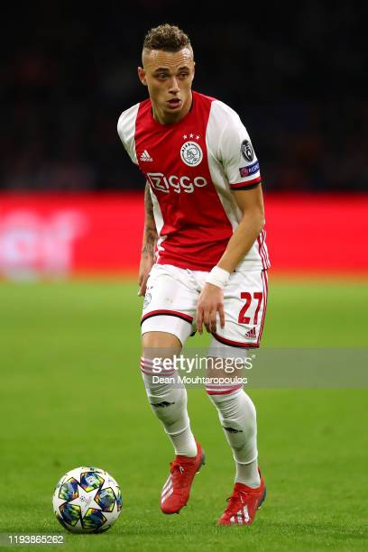Noa Lang of Ajax in action during the UEFA Champions League group H match between AFC Ajax and Valencia CF at Amsterdam Arena on December 10 2019 in...