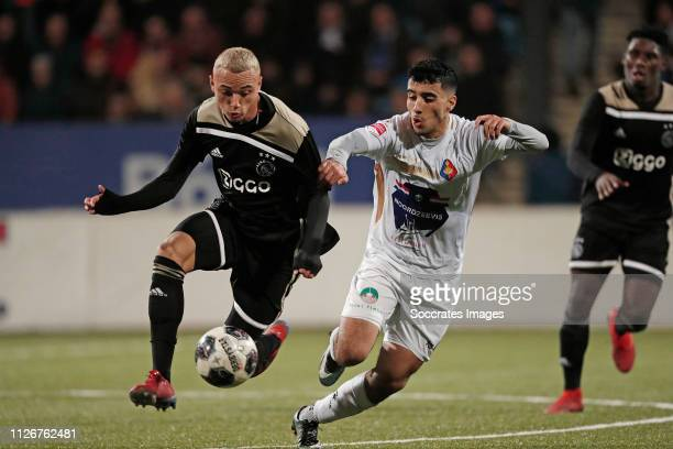 Noa Lang of Ajax U23 Anass Najah of Telstar during the Dutch Keuken Kampioen Divisie match between Telstar v Ajax U23 at the Rabobank IJmond Stadium...