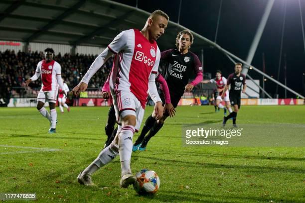 Noa Lang of Ajax U23 during the Dutch Keuken Kampioen Divisie match between Ajax U23 v Utrecht U23 at the De Toekomst on October 21 2019 in Amsterdam...