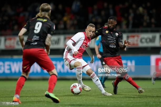 Noa Lang of Ajax U23 Jeffry Fortes of Excelsior Rotterdam during the Dutch Keuken Kampioen Divisie match between Excelsior v Ajax U23 at the Van...