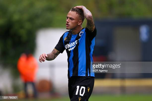 Noa Lang of Club Brugge during the Jupiler Pro League match between Union Saint Gilloise and Club Brugge at Joseph Marien Stadion on August 1, 2021...