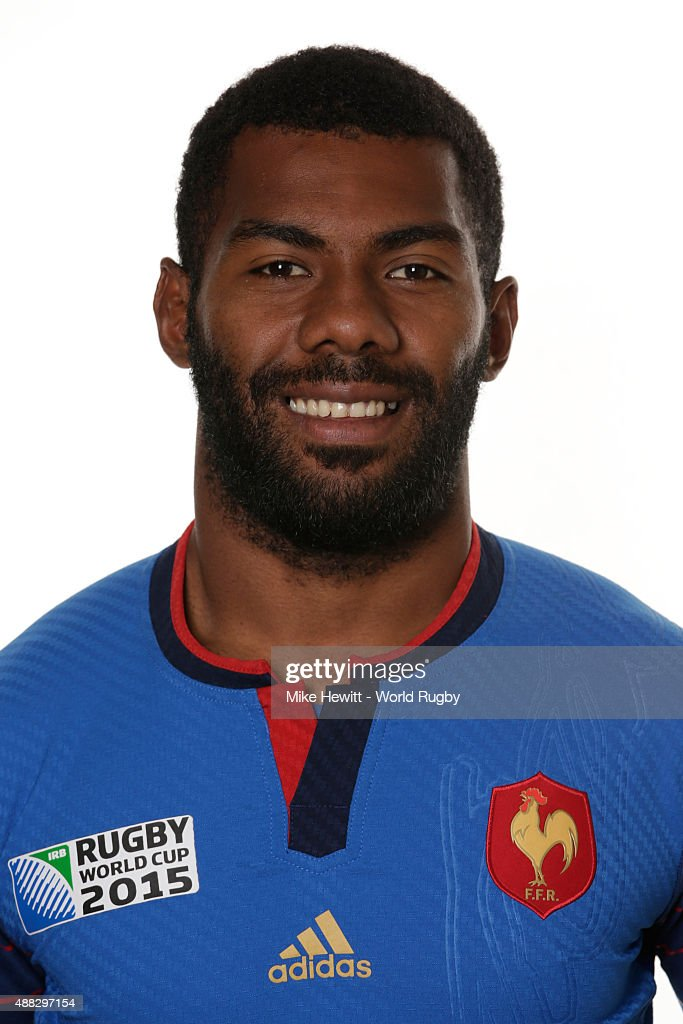Noa Nakaitaci of France poses during the France Rugby World Cup 2015 squad photo call at the Selsdon Park Hotel on September 15, 2015 in Croydon, England.