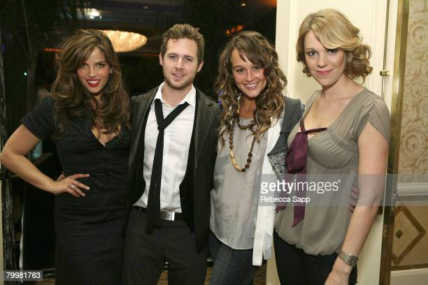 Noa Tishby AJ Buckley Sharni Vinson and Kristin Proctor at MercedesBenz Oscar Viewing Party at the Four Seasons on February 24 2008 in Beverly Hills...