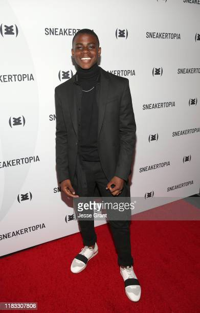 Noah Abbott attends the Sneakertopia Los Angeles VIP Preview at HHLA on October 24 2019 in Los Angeles California