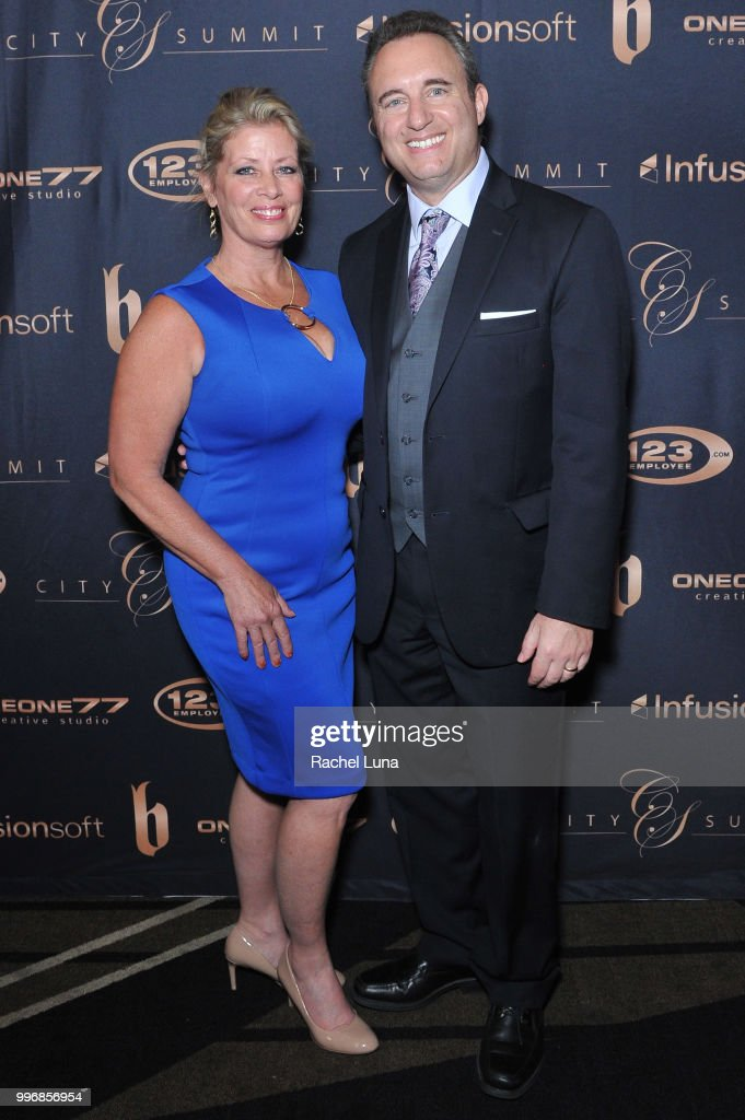 Noah and Babette St. John of NoahStJohn.com attend City Summit: Wealth Mastery And Mindset Edition after-party at Allure Banquet & Catering on July 11, 2018 in Van Nuys, California.