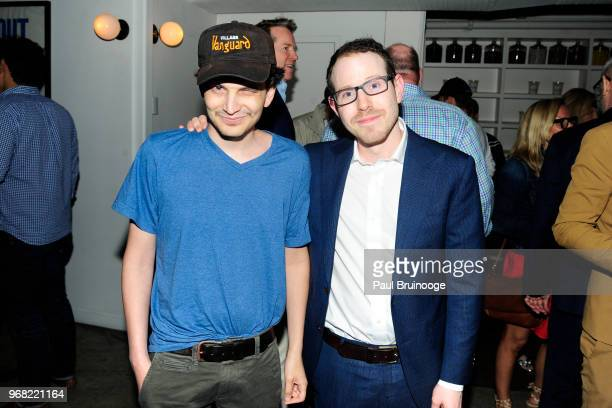 Noah Aster and Ari Aster attend A24 Hosts The After Party For 'Hereditary' at Metrograph on June 5 2018 in New York City