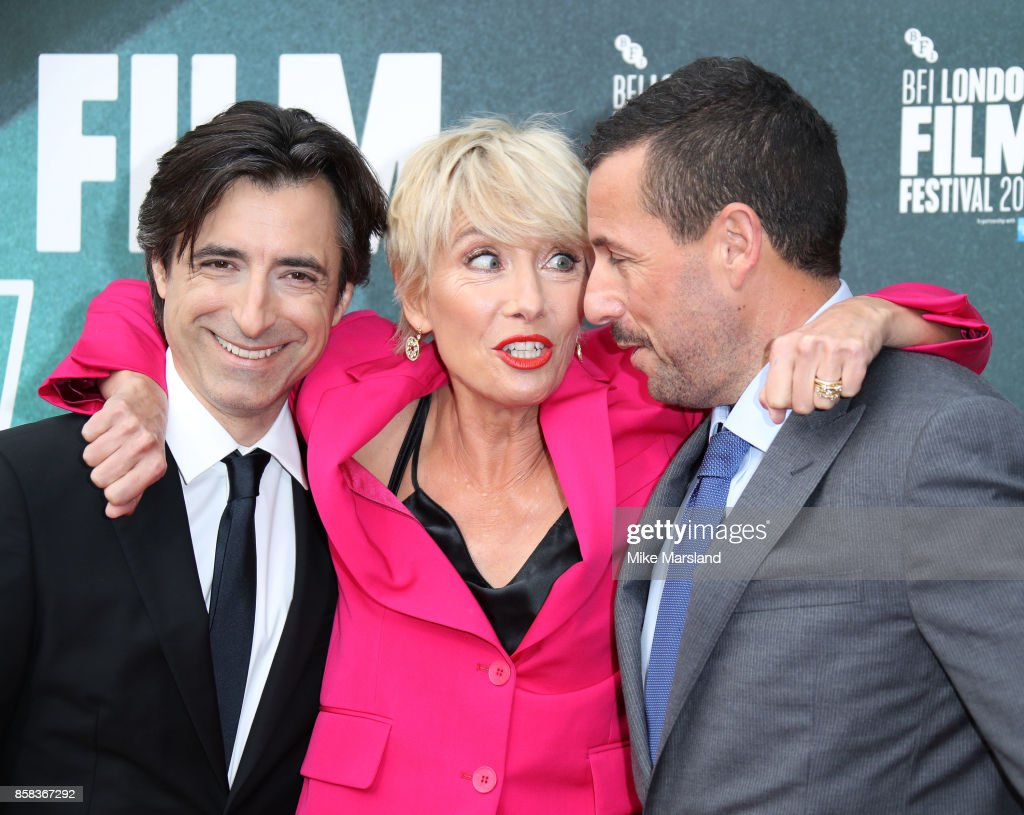 Noah Baumbach and actors Emma Thompson, Adam Sandler attend the Laugh Gala & UK Premiere of 'The Meyerowitz Stories' during the 61st BFI London Film Festival on October 6, 2017 in London, England.