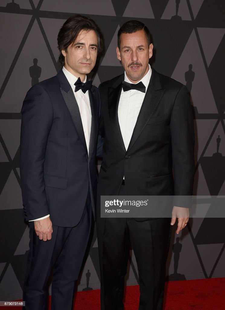 Noah Baumbach and Adam Sandler attend the Academy of Motion Picture Arts and Sciences' 9th Annual Governors Awards at The Ray Dolby Ballroom at Hollywood & Highland Center on November 11, 2017 in Hollywood, California.