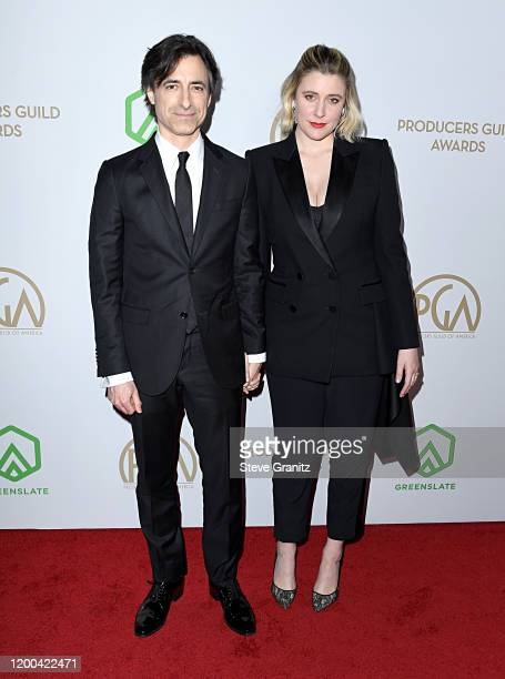 Noah Baumbach and Greta Gerwig attend the 31st Annual Producers Guild Awards at Hollywood Palladium on January 18 2020 in Los Angeles California