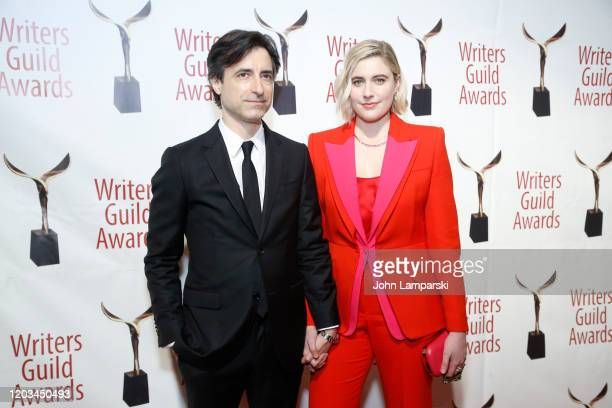 Noah Baumbach and Greta Gerwig attend the 72nd Annual Writers Guild Awards at Edison Ballroom on February 01, 2020 in New York City.