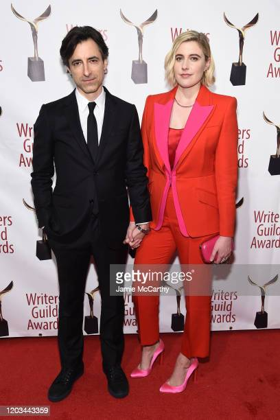 Noah Baumbach and Greta Gerwig attend the 72nd Writers Guild Awards at Edison Ballroom on February 01 2020 in New York City