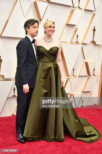 Noah Baumbach and Greta Gerwig attend the 92nd Annual Academy Awards at Hollywood and Highland on February 09 2020 in Hollywood California