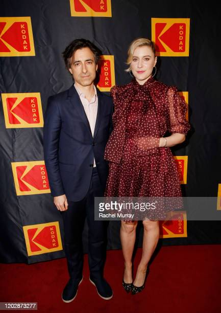 Noah Baumbach and Greta Gerwig attend the Fourth Annual Kodak Film Awards at ASC Clubhouse on January 29 2020 in Los Angeles California