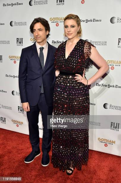 Noah Baumbach and Greta Gerwig attend the IFP's 29th Annual Gotham Independent Film Awards at Cipriani Wall Street on December 02 2019 in New York...